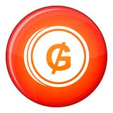 Coin guarani icon, flat style Stock Photography