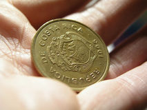 Coin in hand Royalty Free Stock Photos