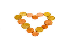Coin Heart Money Royalty Free Stock Image