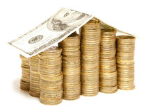 Coin house Royalty Free Stock Images