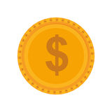 Coin icon. Money and Financial item design. Vector graphic Stock Photos