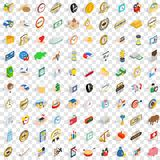 100 coin icons set, isometric 3d style. 100 coin icons set in isometric 3d style for any design vector illustration Royalty Free Stock Photo
