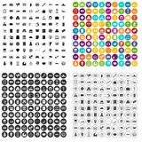 100 coin icons set vector variant. 100 coin icons set vector in 4 variant for any web design isolated on white stock illustration