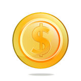 Coin01. Illustration for Gold Dollar Coin Royalty Free Stock Images