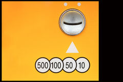 Coin insert space for vending Machine Royalty Free Stock Image