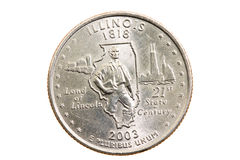 Coin  ( isolated) Stock Image