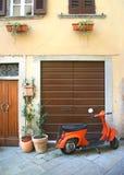 Coin italien de scooter Photos libres de droits