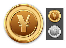 Coin japanese yen. Royalty Free Stock Image