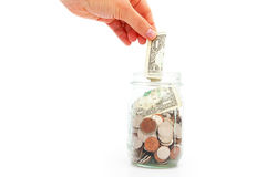 Coin jar Royalty Free Stock Photography