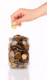 Coin jar Royalty Free Stock Photo