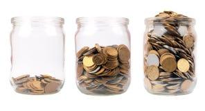 Coin jar royalty free stock photos