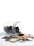 Coin jar money Royalty Free Stock Photo