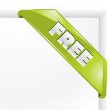 Coin «libre» de vecteur. Image stock