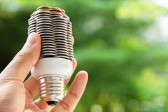 Coin light bulb concept Stock Photography