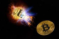 Coin of litecoin royalty free stock photos