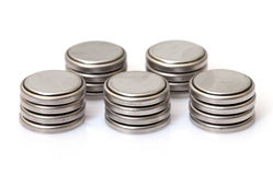 Coin Lithium batteries Stock Photography