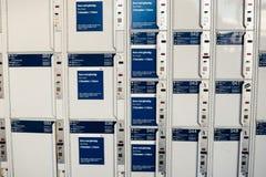 Coin Lockers Stock Photo