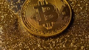 Coin Made by Bitcoin System Falls down on Golden Dust Macro