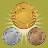 Coin Medals with Background Stock Images