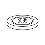 Coin money isolated. Icon  illustration graphic design Royalty Free Stock Image