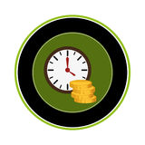 Coin money isolated icon Royalty Free Stock Photography