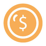 Coin money isolated icon Stock Photography