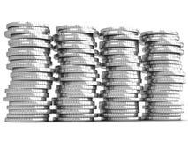 Coin money savings stack Stock Photos