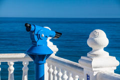 Coin monocular with sea view Royalty Free Stock Images