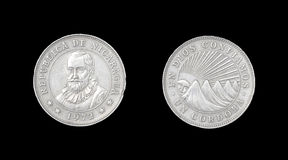 Coin of Nicaragua Stock Photography