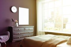 Coin noir de chambre à coucher, affiche, raboteuse modifiée la tonalité Photographie stock libre de droits