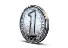 Coin Number One Royalty Free Stock Photos