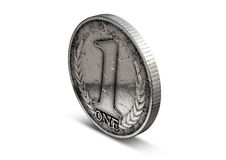Coin Number One Royalty Free Stock Photography
