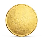 Coin. Old golden coin isolated on a white backgrond. 3d illustration stock illustration