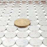 Coin one hryvnia Stock Photos