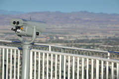 Coin-operated Binocular. A coin-operated binocular viewer overlooking a city of Las Vegas and the mountains in the background Royalty Free Stock Photos