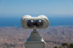 Coin Operated Binocular back Royalty Free Stock Photos