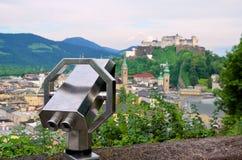 Coin Operated Binocular viewer Hohensalzburg Fortress Salzburg Austria Stock Images
