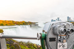 Coin operated binocular viewer located in Niagara Falls . Stock Images