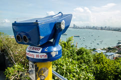 A coin-operated binocular viewer Stock Images