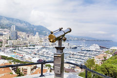 Coin operated binocular at the viewpoint in Monaco,France Stock Photo