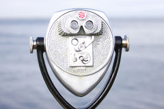 Coin operated binoculars Royalty Free Stock Photo