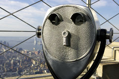 Coin operated binoculars. Top of the empire state building, new york, America, usa royalty free stock images