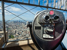 Coin operated binoculars on Empire State Building Stock Image