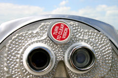 Coin operated binoculars at Fort Desoto Florida Royalty Free Stock Photo