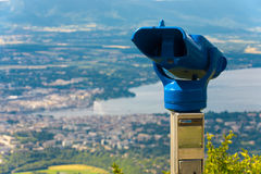 Coin Operated Binoculars Geneva Stock Photography