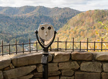 Coin operated binoculars at Hawks Nest Royalty Free Stock Photo