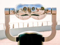 Coin operated binoculars Royalty Free Stock Photos