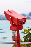 Coin Operated Binoculars at view point in Pattaya Thailand Stock Image