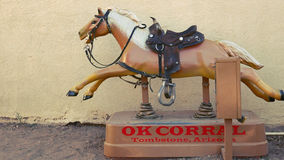 Coin-operated Horse Ride at the OK Corral in Tombstone, Arizona Stock Image