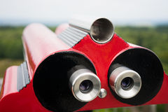 Coin-Operated Lookout Binoculars Stock Photo